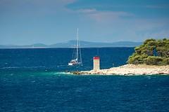 bon voyage (Andreas669) Tags: sea rab segeln segelboot auslaufen frkanj sailing sailboot insel isle island kroatien croatia hrvatska bonvoyage