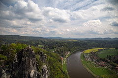 Saxon Switzerland (scuthography) Tags: green sunshine clouds river photo foto cloudy saxony may elbe 2015 flickrglobal kathrinschild saxonswitzland
