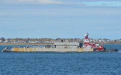Alice Winslow (jelpics) Tags: ocean sea boston port harbor boat ship massachusetts cement vessel tug bostonma barge tugboats bostonharbor alicewinslow
