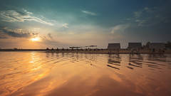 Sunset (Fevzi DINTAS) Tags: travel sunset summer sky sun lake tourism nature weather clouds reflections season landscape thailand amazing fantastic asia places adventure moment hoiday nationalgeographic touristic destinations paza140