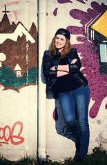 Laura (WolfgangDengler) Tags: street portrait woman colors girl nikon outdoor flash graffitti frau tamron sonne mdchen farben streetwear d800 streetfashion lastolite speedlite streetstyle ezybox sb910 tamronsp70200mmf28vcusd