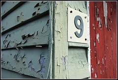 Number 9, Number 9... (waynetoneill) Tags: peeling paint nine 9 number csiro sonyrx100 samfordfutures