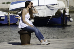 Street - Dubrovnik (John Hickey - fotosbyjohnh) Tags: street people woman lady boats nikon holidays harbour outdoor candid croatia streetscene dubrovnik 2015 younglady nikond5100 may2015