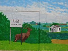 Elks Lodge #2306, Jefferson, IA (Robby Virus) Tags: street art sign mural iowa lodge jefferson fraternal organization elks bpoe 2306