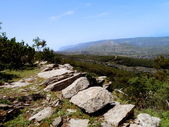 High trail to the top 01 (angeloska) Tags: ikaria hikingtrails opsikarias aegean greece signage     atheras april landscape