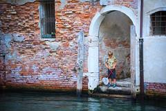 Urban fishing (Capture the planet) Tags: fishing venice doorway boy fx nikon d810 nikkor holiday net flickr patience canal water italy italia italian wall brick fav10 fav25 mer