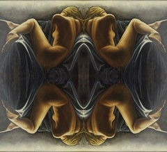 2016-07-08 symmetrical contemporary nude paintings 2 (april-mo) Tags: symetrical nu nude painting modernart experimentaltechnique experimental flipping symmetry