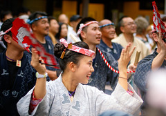 Kamichio young performers dancing in front to festival float - Narita Gion Festival 2016 (Apricot Cafe) Tags: festival japan power religion peaceful happiness chiba success groupofpeople enjoying narita teamwork 2016 traditionaloutfit annualevent naritagionfestival canonef70200mmf28lisiiusm img713889