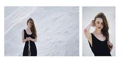 S A L. Parte 1. Dptico segundo (Tania Cervin) Tags: girl model beauty dress sal salt sadness vestido white blanco negro black portrait dptico conceptual canon taniacervianphotography
