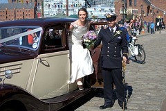 The Happy Day (ihughes22) Tags: bride candid brideandgroom ihughes22 nikon liverpool albertdock flowers wedding officer forces thehappycouple
