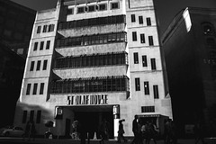 St. Olaf House (instagram.com/the_big_smoke_/) Tags: stolaf house london england britain bw blackandwhite street streetphotography streetscene scene streetphoto shadows silhouettes streets building borough central centre city light lowkey architecture artdeco deco art style modernist robmchale mono monochrome people peoplewatching candid composition compo contrast capture lowsun goldenhour