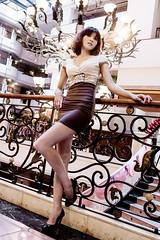 Zoe in sexy dress (乂寒江雪乂) Tags: brown cute sexy girl beauty fashion zoe dress longhair taiwan 台灣 台南 女孩 美女 外拍 性感 女生 曲線 時尚 洋裝 氣質 長髮 黑絲襪