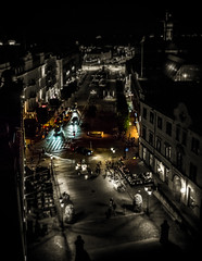 The dynamic of life (Meegazoon) Tags: helsingborg skne sweden night evening colour black white life people moment nightlife krnan fromabove summernight downtown edited citylights blacknwhite focus photography pic picture