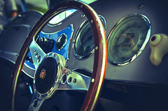Your Mother Wouldn't Like It (Paul's Picx) Tags: mg mga classic car classiccar steeringwheel dash dashboard sportscar wheel steering carshow cars classiccars 1960s claremontfarm lomo lomoeffect lomography