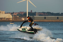 Jetski Fun (frisiabonn) Tags: seaside outdoor waterfront merseyside river mersey jetski sports sport fun water sea marine england great britain united kingdom uk wet cool awesome new brighton liverpool beach shore boat vehicle maritime