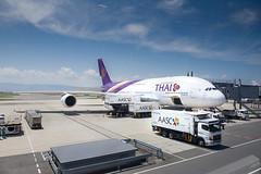 Going back to Bangkok (@pigstagram) Tags: airbus a380 hstud phayuhakhiri hnd airport kansai kix