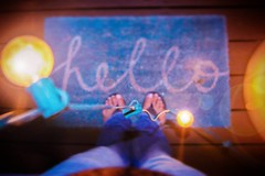 Hello (AngelBeil) Tags: fromwhereistand lightbulbs greetings lookdown youlightupmylife becreative behappy doormats