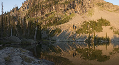 Snag at Dawn (s_jenkV2) Tags: mission mountains mountain range montana swan seeley valley approach piper basin lakes ducharne summer season 2016 backpack trip hiking explore adventure forest nature wild wilderness huckleberry bush camp camping fire campfire canon 70d