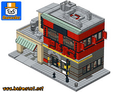 GHOSTBUSTERS CHINESE RESTAURANT SAMPLE 04 (baronsat) Tags: lego chinese restaurant custom instructions wip