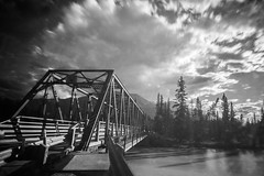 B&W Bridge (ParkerTownes) Tags: nd neutraldensity jasper canon canada water bridge