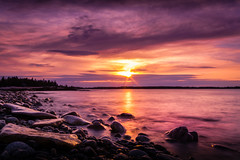 Acadia National Park Seawall (fxphancis) Tags: ocean new sunset sea england blur beach nature water sunrise lens landscape photography nikon rocks long exposure angle wide maine sigma seawall d7100