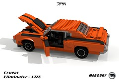 Mercury Cougar Eliminator Hardtop (1970) (lego911) Tags: auto usa classic ford sports car america model lego mercury muscle render performance anger 71 company management pony 1970 1960s 1970s cougar luxury challenge v8 cad lugnuts povray moc eliminator ldd angermanagement miniland lego911