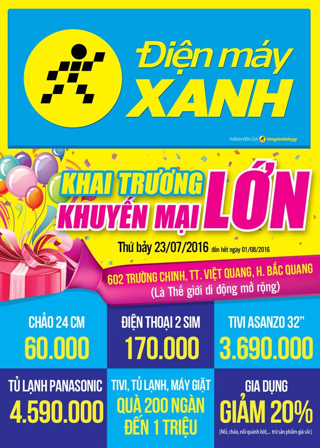 Khai trương siêu thị Điện máy XANH Trường Chinh, Hà Giang