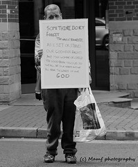 A message from God. (MAMF photography.) Tags: blackandwhite blackwhite bw britain biancoenero blancoynegro blanco blancoenero city england enblancoynegro flickrcom flickr google googleimages gb greatbritain greatphotographers greatphoto inbiancoenero image leeds ls1 leedscitycentre mamfphotography mamf monochrome nikon noiretblanc noir negro north nikond7100 northernengland onthestreet photography pretoebranco photo people pose road sex schwarzundweis schwarz street town uk unitedkingdom upnorth westyorkshire yorkshire zwartenwit zwartwit zwart