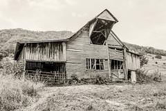 Seen Better Days (Back Road Photography (Kevin W. Jerrell)) Tags: backroadphotography barns rural nikond60 countryroads blackandwhite silverefexpro2 ruralphotography leecountyva jonesville virginia