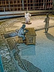 A Roman patrician surveys the mosaics of Loupian Roman Villa near Loupian, France. (mharrsch) Tags: roman villa loupian mosaic floor pavement architecture ancient gaul france mharrsch archaeology