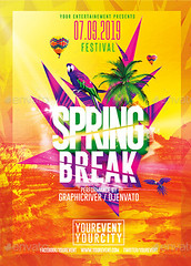 Spring Break Party | Psd Flyer Template (Rome Creation) Tags: bash beach break bright classy club easter electro event festival flashy flyer flyers girl hot nightclub palm parties party pool poster psd shine splash spring springbreak summer template tropical romecreation