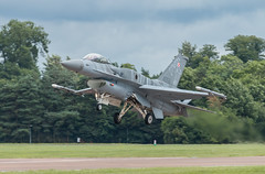 Polish Air Force F-16, RIAT 2016 (tik_tok) Tags: aircraft figher jet fast military plane demonstration weapon technology f16 fightingfalcon polishairforce riat 2016 royalinternationalairtattoo