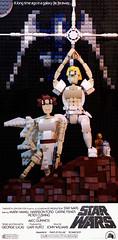 Star Wars Poster 1977 (Gamabomb) Tags: lego starwars skywalker luke leia
