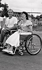 Cute Paraplegic Sports Woman 1959 (jackcast2015) Tags: polio infantileparalysis handicapped disabledwoman crippledwoman wheelchair paraplegic paraplegicwoman