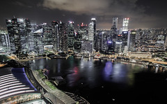 Marina bay (bTru415816) Tags: singapore marinabaysands arcchitecture asia outdoors nighttime skyline skyscrapper travel city architecture waterfrom