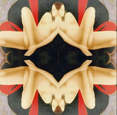 2016-07-08 symmetrical contemporary nude paintings 3 (april-mo) Tags: symetrical nu nude painting modernart experimentaltechnique experimental flipping symmetry
