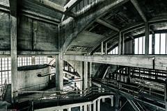 _O7A8945 (AntonyCASAFilms) Tags: urban abandoned monochrome concrete 3d factory belgium exploring plan marshall maze coal escher exploration derelict washing ue urbex