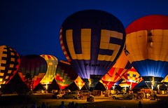 Balloon glow (Notkalvin) Tags: night fire evening glow michigan balloon hotairballoon glowing afterglow howell balloonfest mikekline notkalvin notkalvinphotography