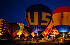 Balloon glow (Notkalvin) Tags: night fire evening glow michigan balloon hotairballoon glowing afterglow howell balloonfest mikekline notkalvin notkalvinphotography