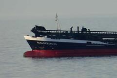 Elegant bow. (Les Fisher) Tags: ship bow finelines dredger scelveringhe