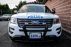 NYPD Explorer (Foto.C87) Tags: new york newyorkcity ford car lights cops explorer police nypd full law enforcement 50 frontal interceptor popo