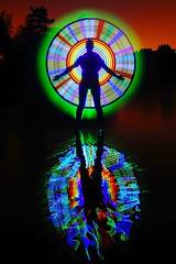Alien apparition. (LED Eddie) Tags: digitallightwand rainbow reflection silhouette lededdie tokina1116 longexposure lightartist lightpainter reflections stars dickingaroundwithlights trickyandtemperamentaltoolage lightpainting grandmaster ulimate best