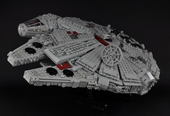 Millennium Falcon - Exterior (1) (Inthert) Tags: scale star mod ship exterior lego millennium system solo falcon wars han chewbacca 4504 moc