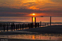 Cadzand - 07051602 (Klaus Kehrls) Tags: sonnenuntergang meer strand wolken himmel urlaub idylle cadzand niederlande