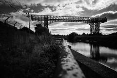 Warrington transporter bridge (another_scotsman) Tags: warrington transporter bridge mersey river blackandwhite monochrome