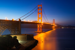 California - San Francisco Golden Gate Twilight (Yen Baet) Tags: goldengate bridge sanfrancisco ca california twilight night pacific usa us america