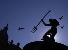 Neptune's Fountain in Gdask (dochtuir) Tags: neptun neptune fountain fontanna gdask danzig long market dugi targ poland polska sculpture rzeba