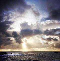hipstamatic garrapata beach (hbphototeach) Tags: approved garrapata beach carmel bigsur hwy1 clouds sunbeams hipstamatic iphoneography iphone6plus pacificocean rainclouds california