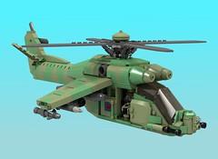 Rhino-class gunship (Thomas of Tortuga) Tags: lego ldd render dcvi helicopter hind gunship