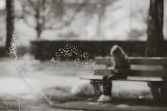 sprinkler (mamuangsuk) Tags: sprinkler jetdeau fontaine fountain parc park filletteetsonchien littlegirlanddog summer warm water drops monochrome blackandwhitephotography mamuangsuk